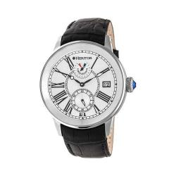 Men's Heritor Automatic HR4301 Madison Watch Black Crocodile Leather/Silver/Black