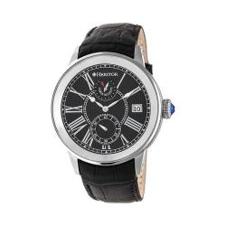 Men's Heritor Automatic HR4302 Madison Watch Black Crocodile Leather/Black/Silver
