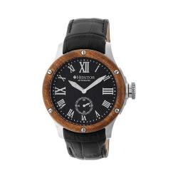 Men's Heritor Automatic HR4502 Montrichard Watch Black Crocodile Leather/Black/Silver