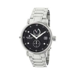 Men's Heritor Automatic HR4702 Leopold Watch Silver Stainless Steel/Black/Silver
