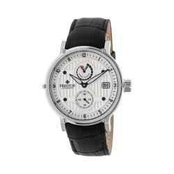 Men's Heritor Automatic HR4703 Leopold Watch Black Crocodile Leather/Silver/Black