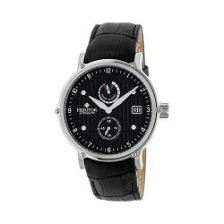 Men's Heritor Automatic HR4704 Leopold Watch Black Crocodile Leather/Black/Silver