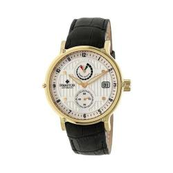 Men's Heritor Automatic HR4705 Leopold Watch Black Crocodile Leather/Silver/Gold