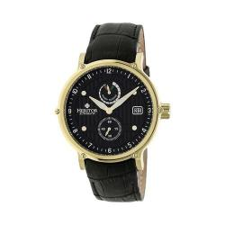 Men's Heritor Automatic HR4706 Leopold Watch Black Crocodile Leather/Black/Gold