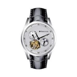 Men's Heritor Automatic HR4901 Alexander Watch Black Crocodile Leather/Silver/Black