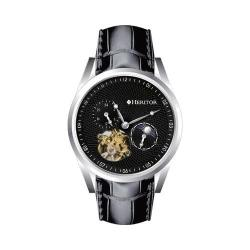 Men's Heritor Automatic HR4902 Alexander Watch Black Crocodile Leather/Black/Silver