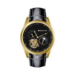 Men's Heritor Automatic HR4904 Alexander Watch Black Crocodile Leather/Black/Gold