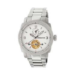 Men's Heritor Automatic HR5001 Helmsley Watch Silver Stainless Steel/White/Black