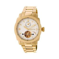 Men's Heritor Automatic HR5003 Helmsley Watch Gold Stainless Steel/White/Gold