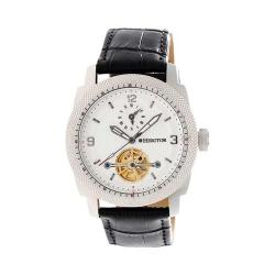 Men's Heritor Automatic HR5005 Helmsley Watch Black Crocodile Leather/White/Black