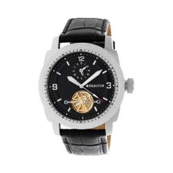 Men's Heritor Automatic HR5006 Helmsley Watch Black Crocodile Leather/Black/Silver