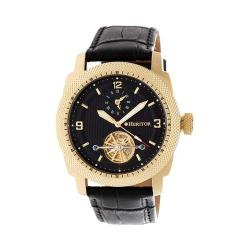 Men's Heritor Automatic HR5007 Helmsley Watch Black Crocodile Leather/Black/Gold