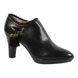 Women's J. Renee Paquita High Heel Tassel Bootie Black Leather