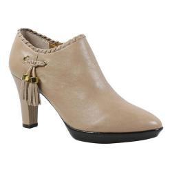 Women's J. Renee Paquita High Heel Tassel Bootie Nude Leather