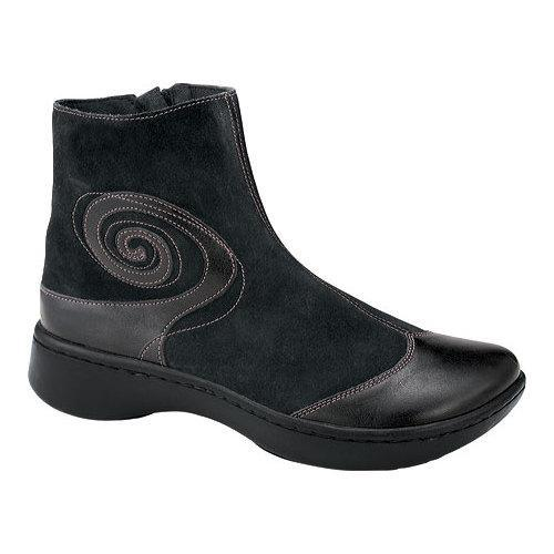 c5f901964461 Shop Women s Naot Oyster Midnight Black Leather Black Suede - Free Shipping  Today - Overstock - 13165712
