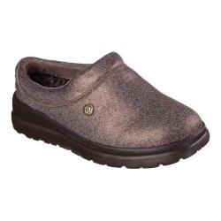 Women's Skechers BOBS Cherish Sleigh Ride Clog Slipper Bronze