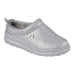 Women's Skechers BOBS Cherish Sleigh Ride Clog Slipper Silver