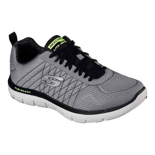 79c671186a5 Men's Skechers Flex Advantage 2.0 Training Shoe Light Gray/Black