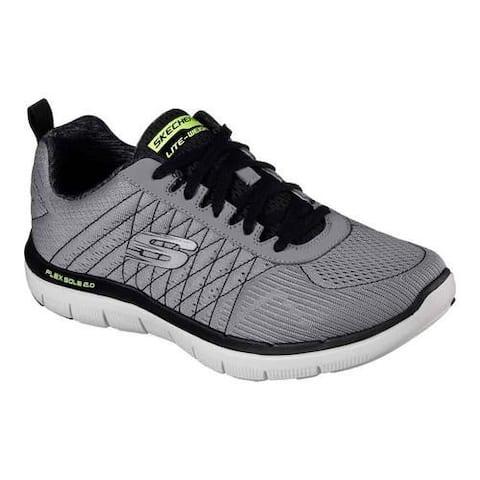 best service f6942 5e84a Men s Skechers Flex Advantage 2.0 Training Shoe Light Gray Black