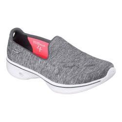 Women's Skechers GOwalk 4 Achiever Slip On Walking Shoe Gray/White