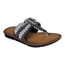 Women's Skechers Indulge 2 Spring Break Thong Sandal Black/White