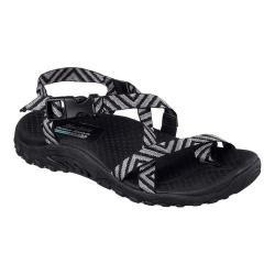 Women's Skechers Reggae Haystack Ankle Strap Sandal Black/Gray
