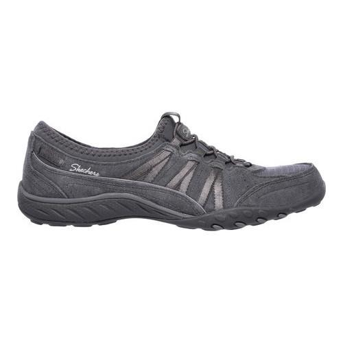 Women's Skechers Relaxed Fit Breathe Easy Moneybags Slip On Sneaker Charcoal - Thumbnail 1