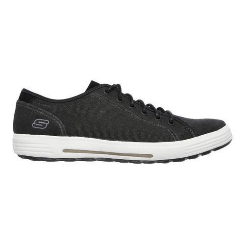Men's Skechers Relaxed Fit Porter Meteno Sneaker Black - Thumbnail 1
