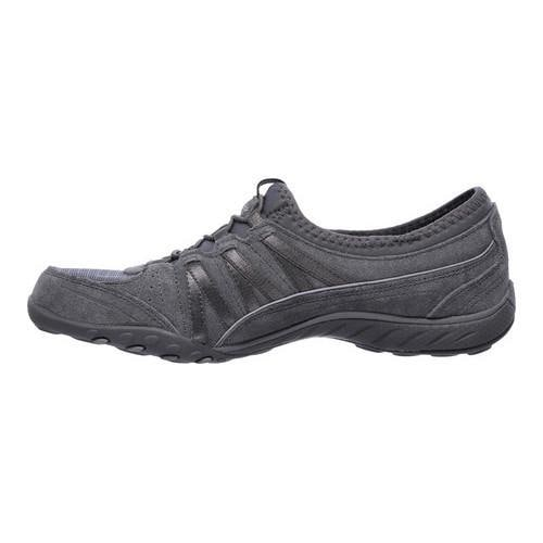 Women's Skechers Relaxed Fit Breathe Easy Moneybags Slip On Sneaker Charcoal - Thumbnail 2