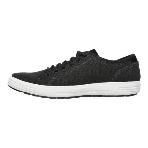 Men's Skechers Relaxed Fit Porter Meteno Sneaker Black - Thumbnail 2