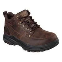 Men's Skechers Relaxed Fit Holdren Lender Boot Dark Brown