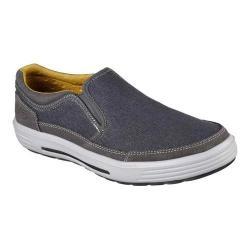 Men's Skechers Relaxed Fit Porter Compen Slip On Sneaker Navy/Gray