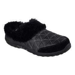 Women's Skechers Relaxed Fit Reggae Fest Fuzzy Vibes Clog Black