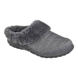 Women's Skechers Relaxed Fit Reggae Fest Fuzzy Vibes Clog Charcoal