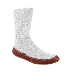 Acorn Slipper Sock Light Grey Cotton Twist