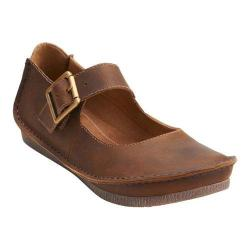 Women's Clarks Janey June Mary Jane Beeswax Leather