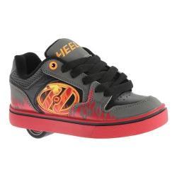 Children's Heelys Motion Plus Roller Shoe Grey/Black/Flames