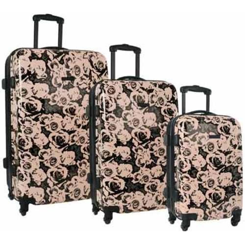2058507e27d7 Shop Women s Nine West Emi 3-Piece Hardside Luggage Set Pink Black ...
