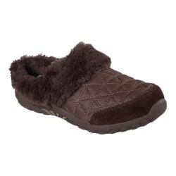 Women's Skechers Relaxed Fit Reggae Fest Fuzzy Vibes Clog Chocolate
