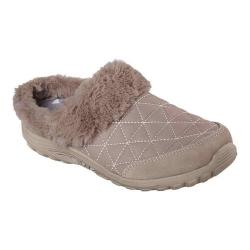 Women's Skechers Relaxed Fit Reggae Fest Fuzzy Vibes Clog Taupe