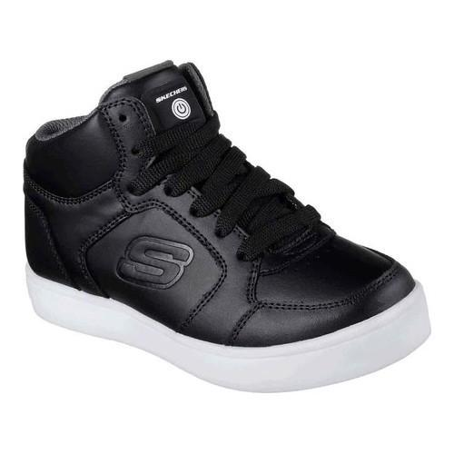 Children's Skechers S Lights Energy Lights High Top Sneaker Black