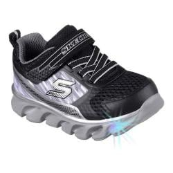 Boys' Skechers S Lights Hypno-Flash Sneaker Black/Silver