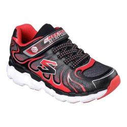 Boys' Skechers S Lights Skech-Rayz Sneaker Black/Red