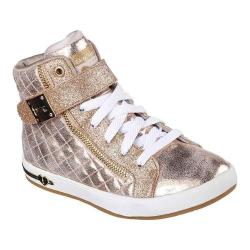Girls' Skechers Shoutouts Quilted Crush High Top Gold