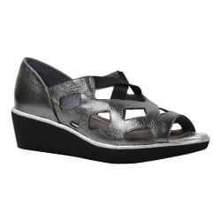 Women's J. Renee Valenteena Platform Wedge Sandal Pewter/Silver Metallic Nappa Leather