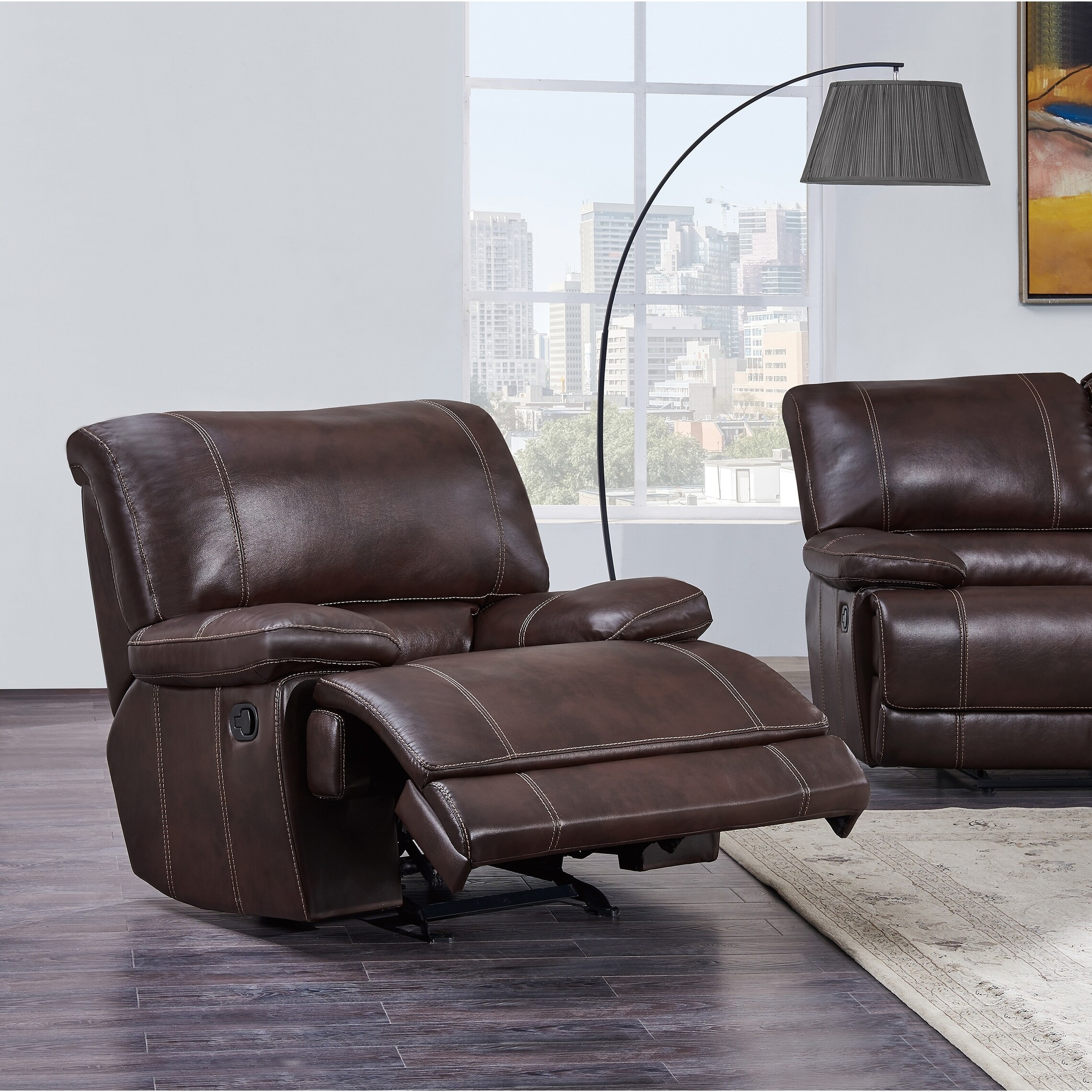 USA Global Furniture Glider Recliner Chair (Agnes Coffee ...
