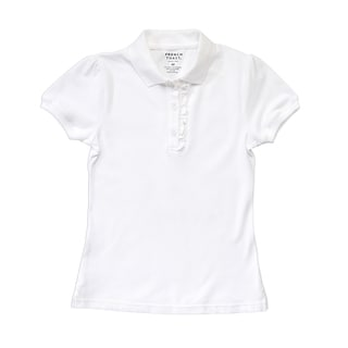 French Toast Girls Cotton Short-sleeve Ruffle Polo