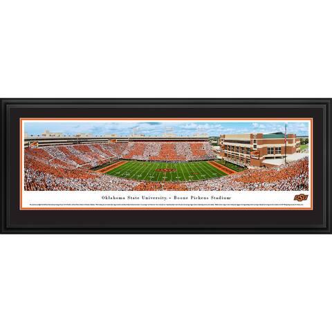 Blakeway Panoramas Oklahoma St Football Framed Print