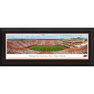 Blakeway Worldwide Panoramas Oklahoma State Football 50-yard Line Framed Print