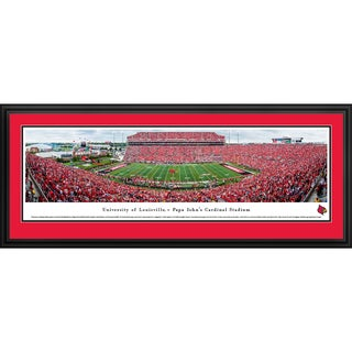 Blakeway Panoramas 'Louisville Cardinals Football - 50 Yd Line' Framed Print